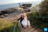 Photo de couple au pont du diable à st-palais
