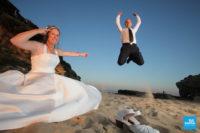 Photo de couple de mariage sur la plage à Saint-Palais