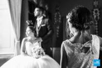Photo intérieur des mariés et de leur fille