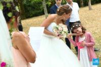 émotions pendant la cérémonie de mariage