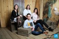 Photo frères et sœur dans les studio de Saintes