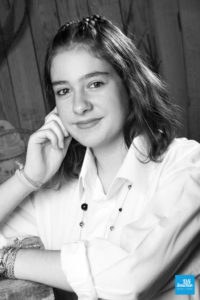 Portrait en noir et blanc à Saintes