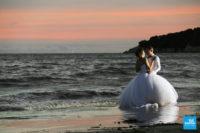 Photo de couple sur la plage à Meschers