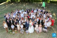 photo de groupe sur un mariage