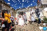 Sortie de la mairie, reportage du mariage