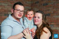 Photo de famille à trois à Saintes