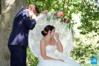 émotions lors du mariage en cérémonie extérieure