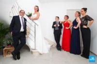 Photo de mariage avec les enfants