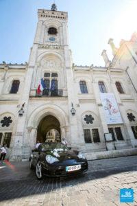 La voiture des mariée à Angoulême