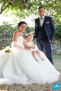 Photo de famille des mariés à Talmont