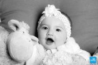Bébé en shooting photo à Saintes