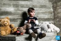 Shooting photo en studio d'une petite fille