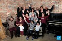 Photo de groupe de famille au studio à Saintes