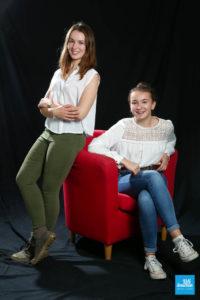 Photo en sœur en shooting studio