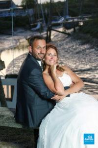 Photo de couple de mariage à la Tremblade