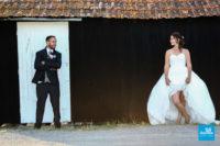 Photo de mariage dans les marais