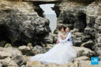 Photo de mariage au pont du diable à Saint-Palais sur Mer