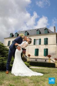 Photo de couple de mariage à Cognac