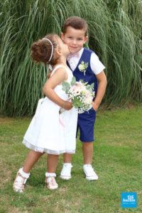 Photo d'enfant sur le vin d'honneur d'un mariage