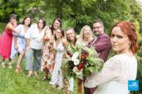 Photo mariage originale avec les amies