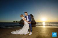 Photo de couple de mariage à Meschers sur la plage