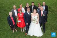 photo de petit groupe de mariage