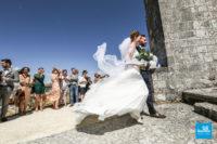 Photo de reportage de mariage lors de la cérémonie