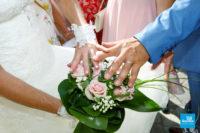 Photo des alliances lors d'un reportage de mariage