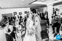 Photo reportage de mariage dans une mairie en mode COVID