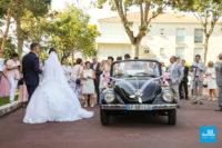 Photo de portage de mariage, l'arrivée à la mairie
